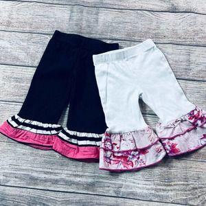 Set of 2 Ann Loren Ruffle Pants 24months